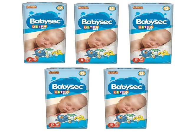 Fralda Infantil BabySec Ultra Kit - Tam P - 150 unidades