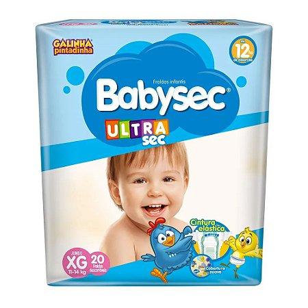Fralda Infantil BabySec Ultra Jumbo - XG - 20 unidades
