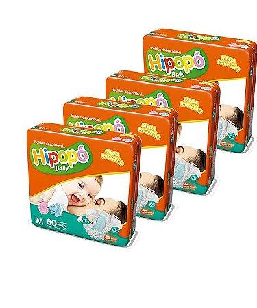 Fralda Infantil Hipopo Mega M Kit C/320