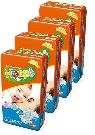 Fralda Infantil Hipopo XXG - 200 Unidades