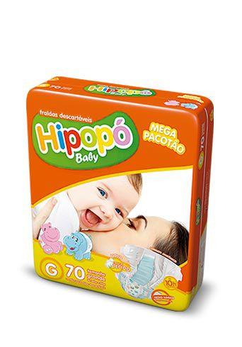 Fralda Infantil Hipopo G Mega com 70 unid