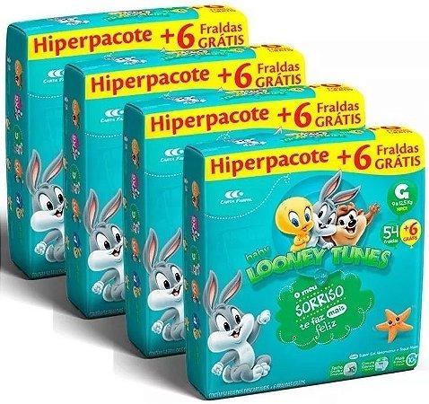 Fralda Infantil Looney Tunes Baby G 240 Unidades