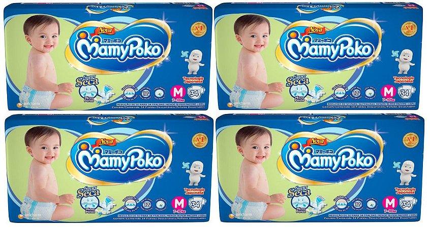 Fralda Infantil Mamypoko Superseca - M 136 Unidades