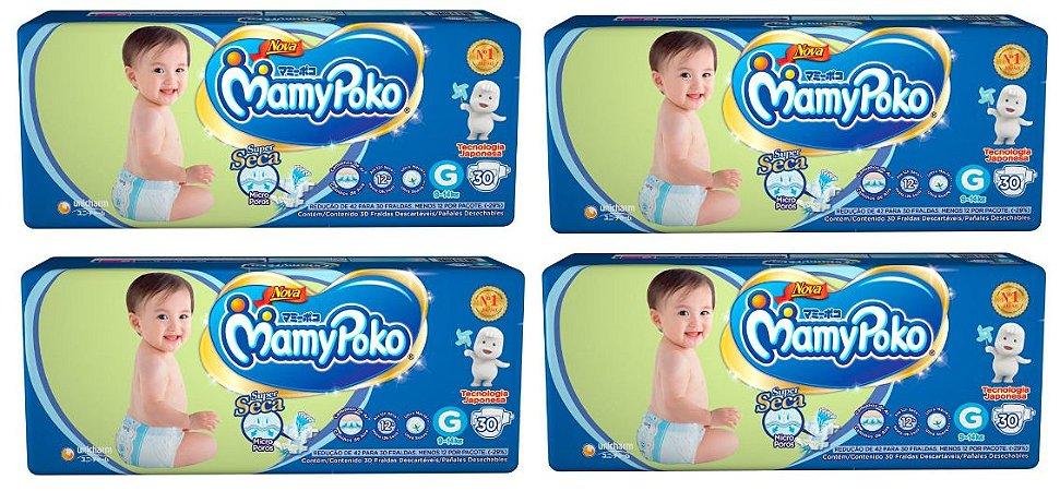 Fralda Infantil Mamypoko Superseca - G 120 Unidades