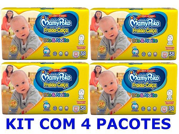 Fralda-Calça Infantil MamyPoko Dia & Noite NOVA M -152 unidades