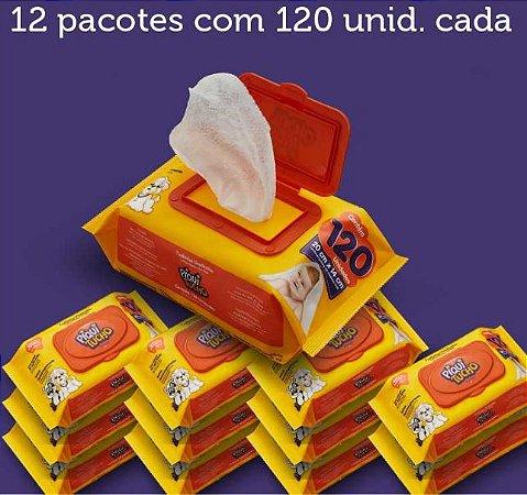Toalhinhas Umedecidas Piquitucho kit c/12 pacotes