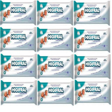 Toalha Umedecida Adulto Higifral-Caixa C/ 12 Pacotes