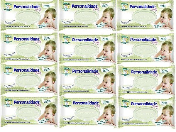 Toalhinha Umedecida Personalidade- Caixa C/12 Pacotes