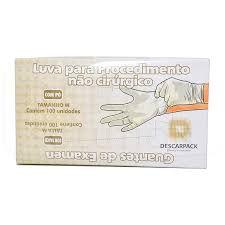 LUVA LATEX DESCARPACK M C/100