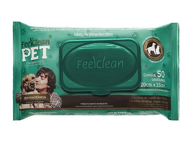 Lenços Umedecidos Para Cães&Gatos Feelclean Pet 50 unidades