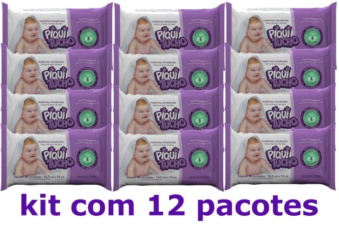 Toalhinhas Umedecidas piquitucho kit c/12x96un.=1152un