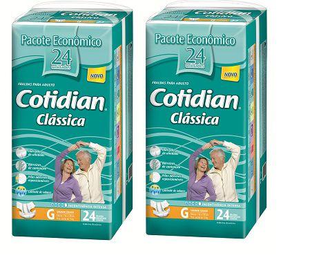Fralda Geriatrica Cotidian Classica G 48 unidades