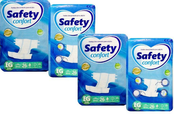 Fralda Geriatrica Safety Confort EG - 104 unidades
