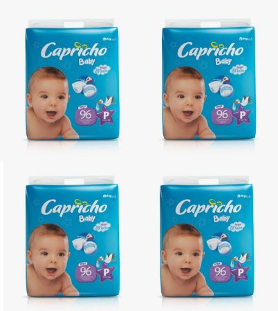 Fraldas Descartáveis-Capricho Baby-P 384 Unidades
