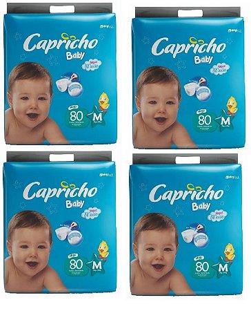 Fraldas Descartáveis-Capricho Baby-M 320 Unidades