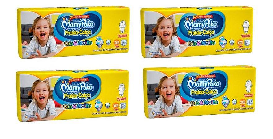 Fralda-Calça Infantil MamyPoko Dia&Noite XXG -104 unidades