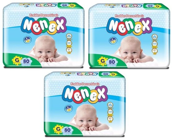 Fraldas Descartáveis-Infantil Nenex DIA/NOITE-G 240 unidades