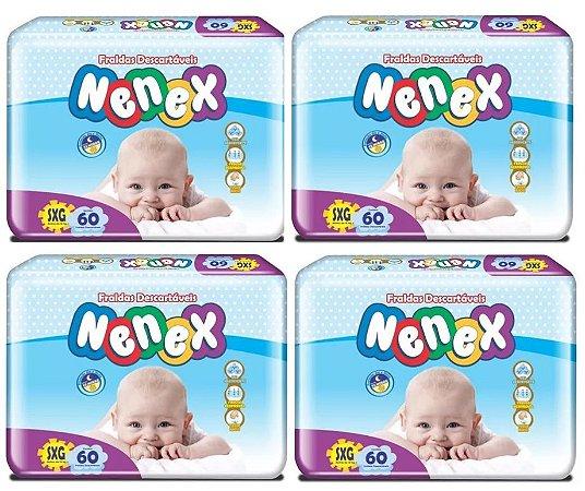 Fraldas Descartáveis-Infantil Nenex DIA/NOITE SXG 240 Unid