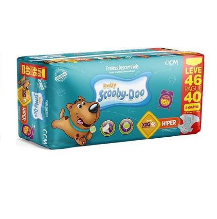 Fraldas Descartáveis Infantil Scooby-Doo- XXG -46 unidades