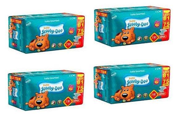 Fraldas Descartáveis Infantil Scooby-doo- P- 324 Unidades