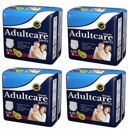 Roupa Íntima Unissex Adultcare Pants G/EG 32 Unidades