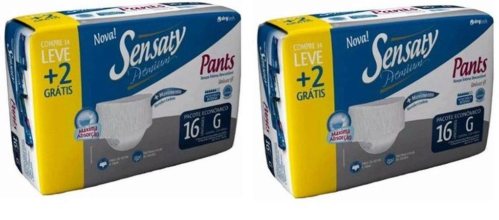 Roupa Intima Descartável-Sensaty Pants Unissex G 32 Unid.