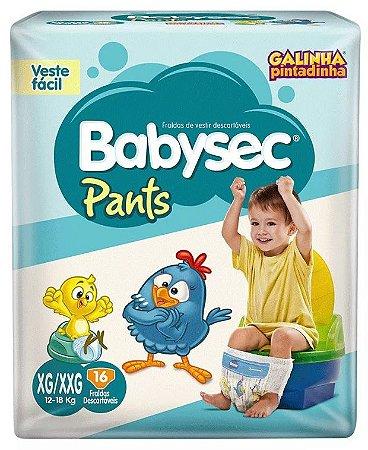 Fraldas Babysec Pants-Galinha Pintadinha- XG/XXG 16 unidades