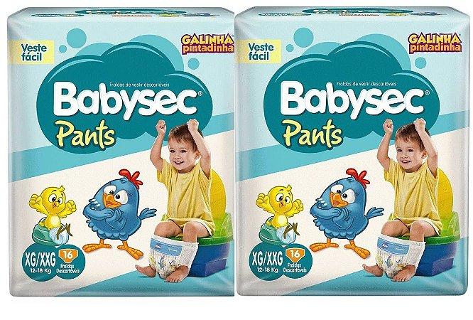 Fraldas Babysec Pants-Galinha Pintadinha- XG/XXG 32 unidades