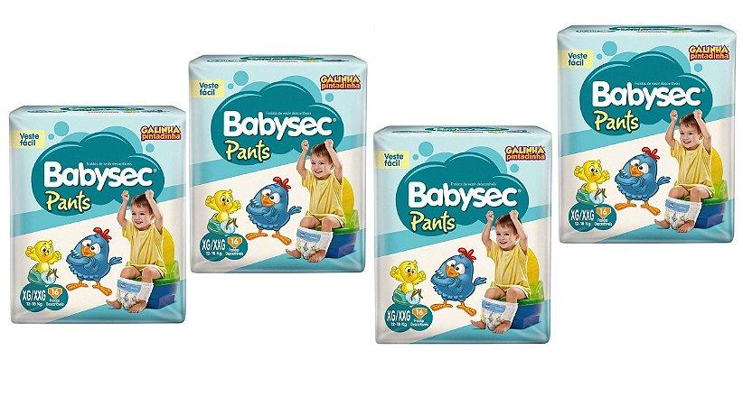 Fraldas Babysec Pants-Galinha Pintadinha- XG/XXG 64 unidades