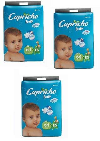 Fraldas Descartáveis-Capricho Baby-EG 192 unidades