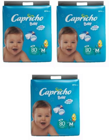 Fraldas Descartáveis-Capricho Baby-M 240 unidades