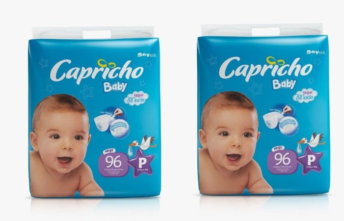 Fraldas Descartáveis-Capricho Baby- P 192 unidades