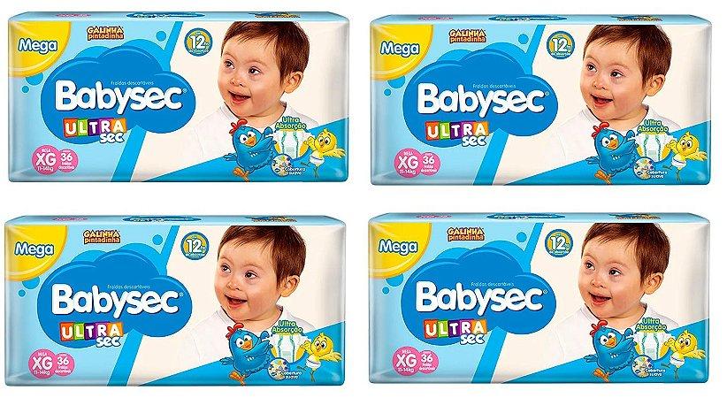 Fralda Babysec Galinha Pintadinha Ultrasec XG -144 unidades