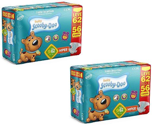 Fraldas Descartáveis Infantil Scooby-Doo-G-124 unidades