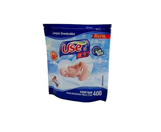 Lenços Umedecidos Use It Baby-C/400 Refil Para Balde