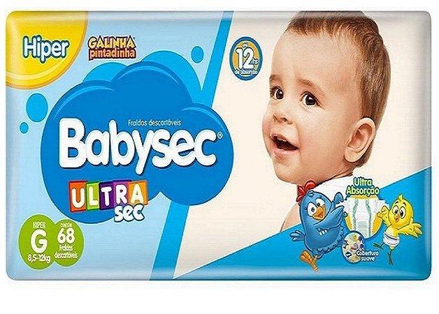 Fralda Babysec Galinha Pintadinha Ultrasec Hiper G-68 unidades