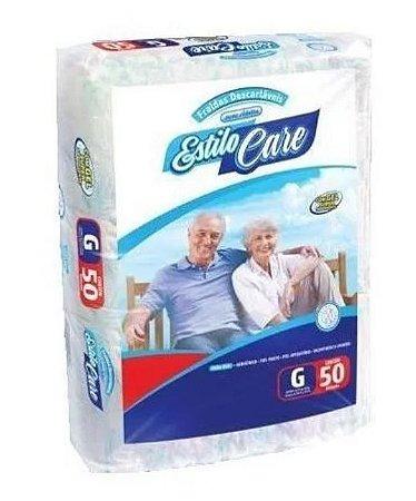 Fralda Geriatrica Estilo Care Uso Adulto- G 50 unidades