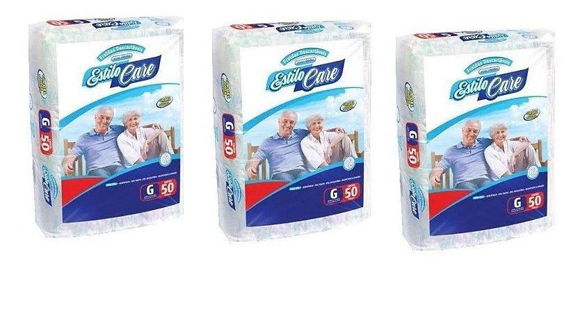 Fralda Geriatrica Estilo Care Uso Adulto- G 150 unidades