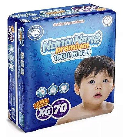 Fralda infantil Nana Nenê Premium Toque Macio XG-70 unidades