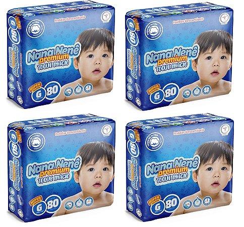 Fralda infantil Nana Nenê Premium Toque Macio G-320 unidades