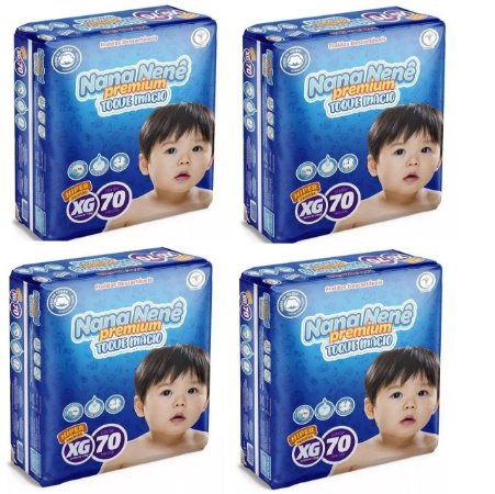 Fralda infantil Nana Nenê Premium Toque Macio XG-280 unidades