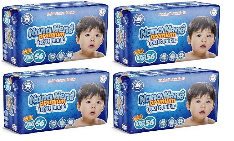 Fralda infantil Nana Nenê Premium Toque Macio XXG-224 unidades