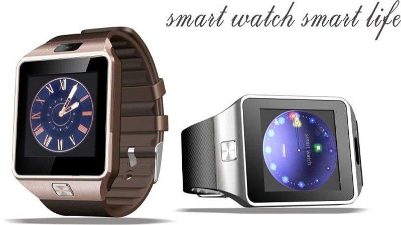 Relógio Smartwatch Bluetooth Dz09 Entrada p/ Chip Iphone Android