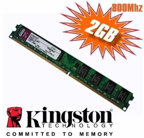 Memória Kingston DDR2 2GB 800MHz para computador (Desktop)