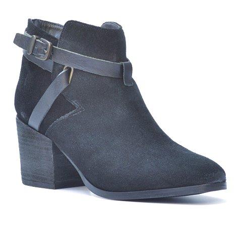 Bota Cano Baixo Salto Médio Wuell Casual Shoes - Winter - 501062 - Preta