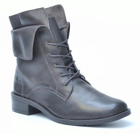 Bota cano médio salto médio Wuell Casual Shoes Winter - BZ 6150 - Café