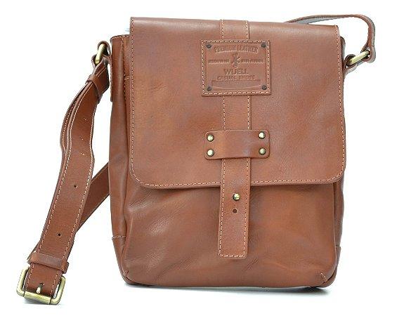 Bolsa de couro pequena lateral - BB 59215 - marrom