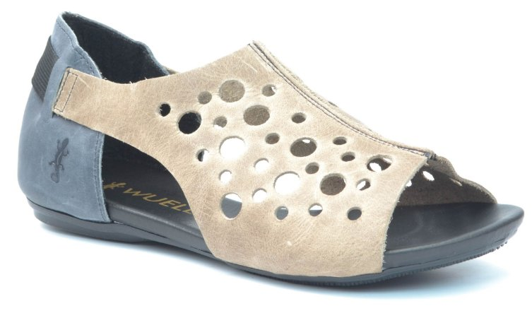 Sandália Feminina Wuell Casual Shoes - VC 72310 - Ouro Preto  marinho e  marmore