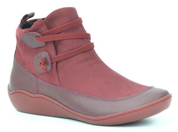 Bota Cano Baixo Wuell Casual Shoes - Classic - 75210 - bordô