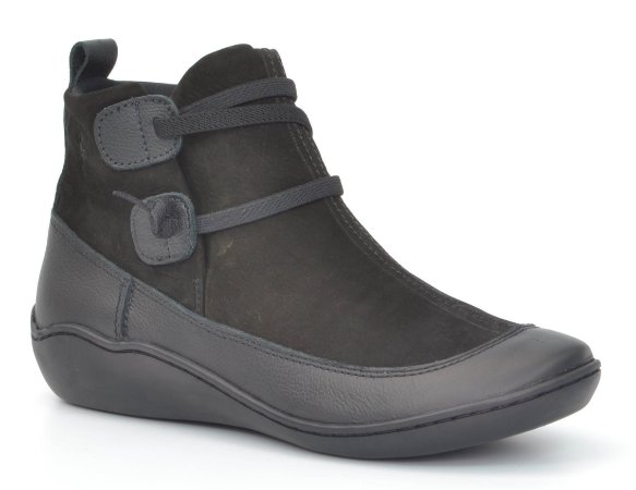 Bota Cano Baixo Wuell Casual Shoes - 75210 - preto